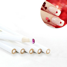 3pcs Pencil for Rhinestones DIY Nail Art Gems Picking Crystal Dotting Tool Wax Wood Pen Picker E