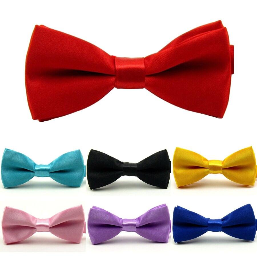 Boy Kid Child Solid Color Adjustable Pre-tied Bowtie Wedding Party Neck Bow Tie YYTIE0001