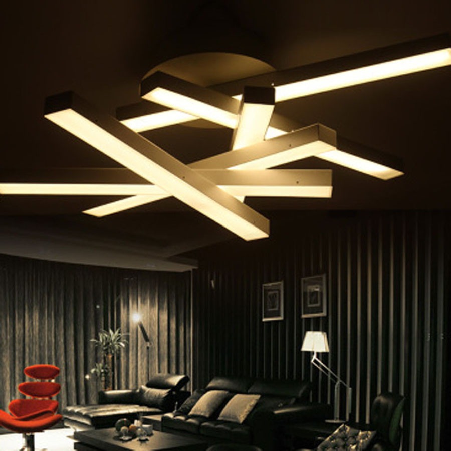 Iluminaci n led iluminaci n techo luminaria luz candelabros acr lico moderna luces nuevas - Iluminacion techo ...