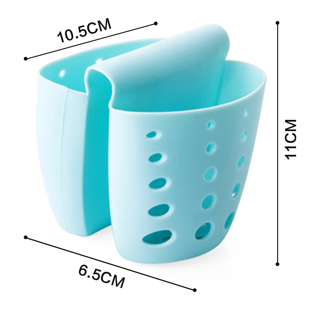 1Pc Plastic Kitchen Hanging Sink Drain Baskets Sponge Holder Brush ...