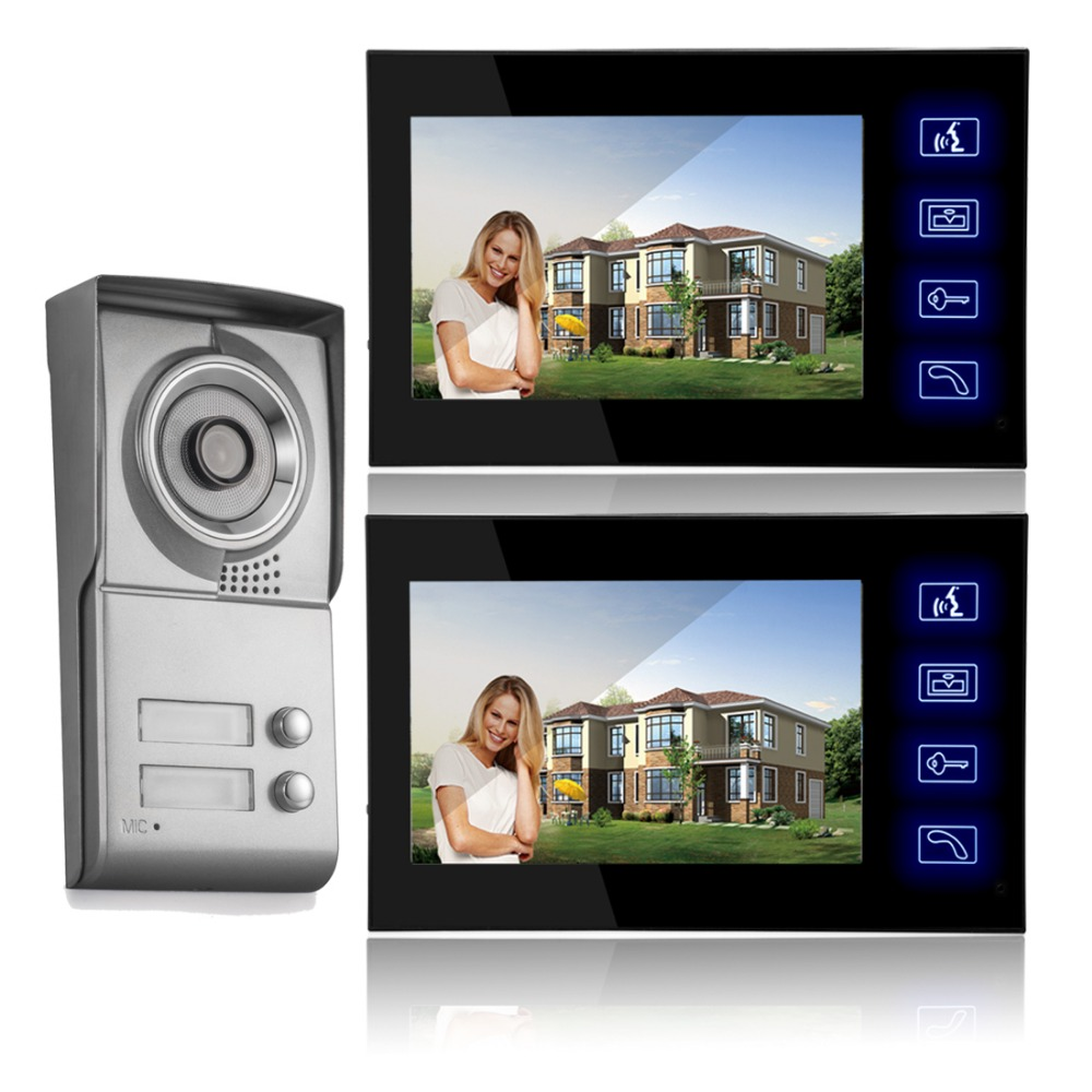 Free Shipping By DHL Video Door Phone Intercom Touchscreen 7 TFT LCD Color Video Door Bell Video Intercom Phone 1pcs free shipping sc3075b touchscreen