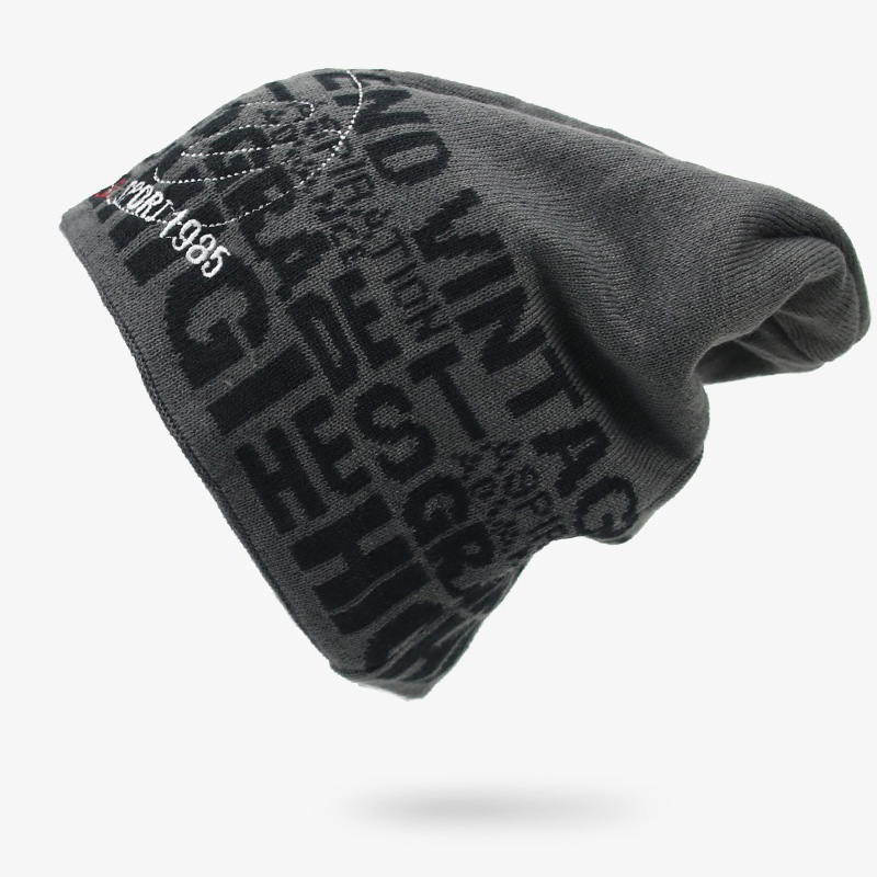 Fashion Men Winter Hats Warm Thick Knitted   Beanies   Hats Cotton Winter Accessories   Skullies   &   Beanies   Male   Beanies   Caps Autumn
