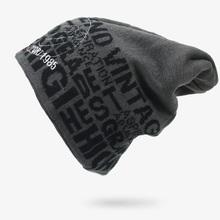 Moda męska czapki zimowe ciepłe grube dzianiny czapki bawełniane akcesoria zimowe Skullies amp czapki męskie czapki czapki jesień tanie tanio Skullies czapki List Na co dzień Z wełny Akrylowe 3#CN009 Dla dorosłych Spring Autunm Winter One Size Winter Hat Scarf