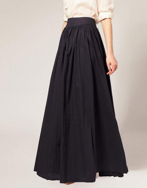 95 100cm Autumn Black Long Maxi Skirts For Women French ...