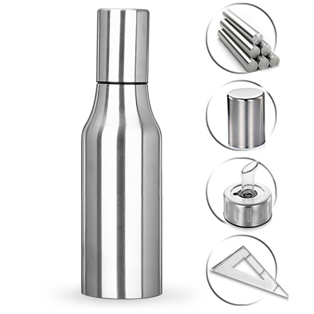 realand premium 500 750 1000ml stainless steel vinegar oil olive dispenser bottle pot leakproof. Black Bedroom Furniture Sets. Home Design Ideas