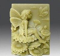 Frete handmade sabão molde de sílica gel sabão molde de silicone molde para DIY sentado na flor