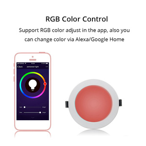 Image 3 - Smart Downlight LED RGBW APP Control Voice Control by Google Assistant/Alexa Echo/IFTTT/APP 3.5 inch 10W