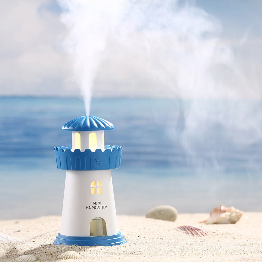 Cute Lighthouse Humidifier 150ML Capacity Household Mist Maker Office Aroma Diffuser 2017 New Atomizer 30ML/H