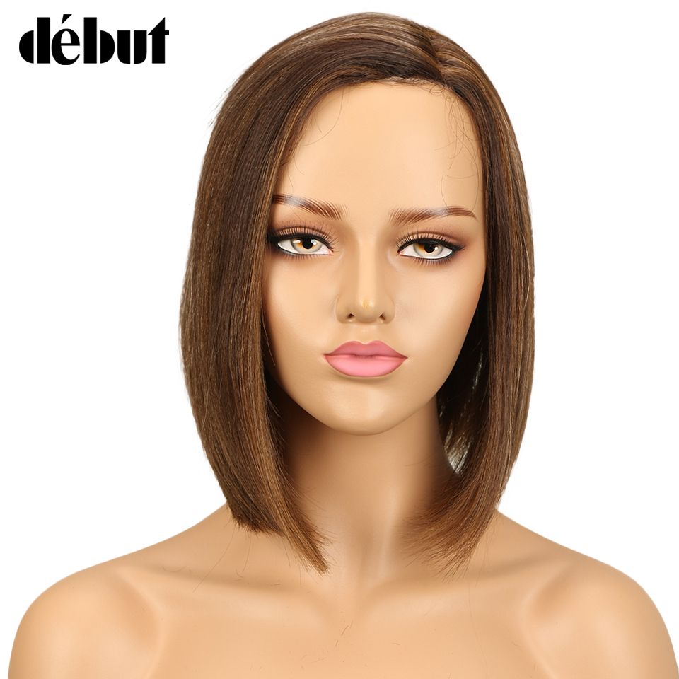 Debut Hair Wigs For Black Women Part Lace Wigs Brazilian Straight Human Hair Wig Ombre Lace Part Human Hair Wigs Free Shipping