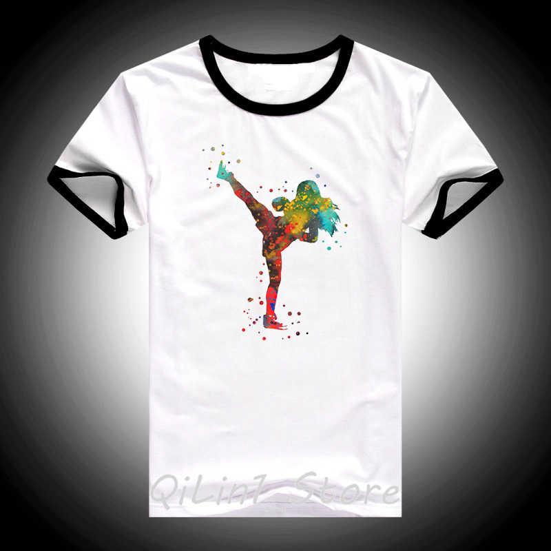 Ropa mujer 2019 สีน้ำไทยสาวมวยพิมพ์ t เสื้อผู้หญิงสีขาว harajuku tee เสื้อ femme tumblr เสื้อยืดหญิง tshirt