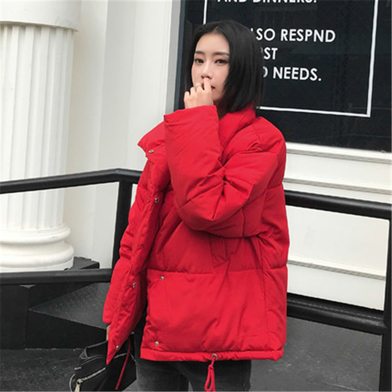 Big Size Women Jackets woman   parka   Winter 2018 female Jacket Warm winter cotton coat women Stand Collar Loose women's parkasJ971