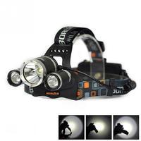 5000LM 3 Head 1T6 2R2 LED Recharge 18650 Headlamp Headlight Light Lamp