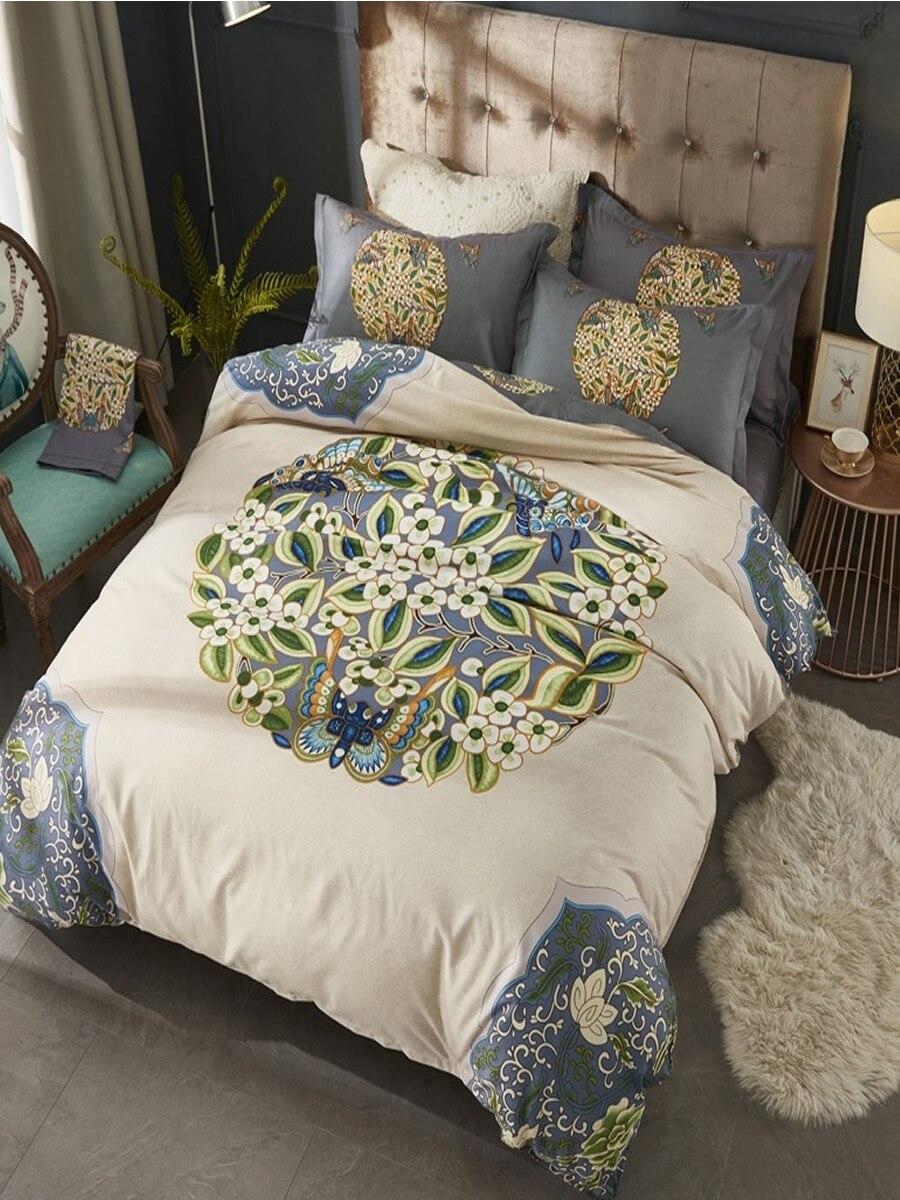 4 Pcs Bedding Set Fashion Cotton Warm Soft Double Size Bedsheet Set 4 Pcs Bedding Set Fashion Cotton Warm Soft Double Size Bedsheet Set