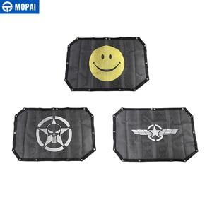 Image 5 - MOPAI 2 Porta Car Top Parasole Tetto di Copertura Anti UV Del Sole Ombra Rete di Protezione Netto Accessori Per Jeep Wrangler 2007 2017 Car Styling