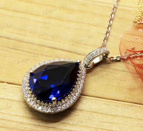 free shipping  teardrop-shaped pendants 925 sterling silver precious stone pendants