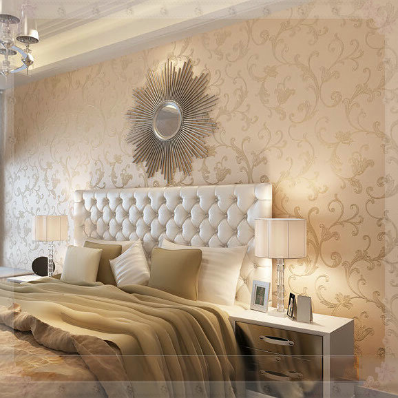Metallic Wallpaper Bedroom - Home Design