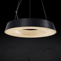The Hollow LED Single Head Chandelier Lighting Creative Round Iron Bar Desk Lamp Library Restaurant Donut