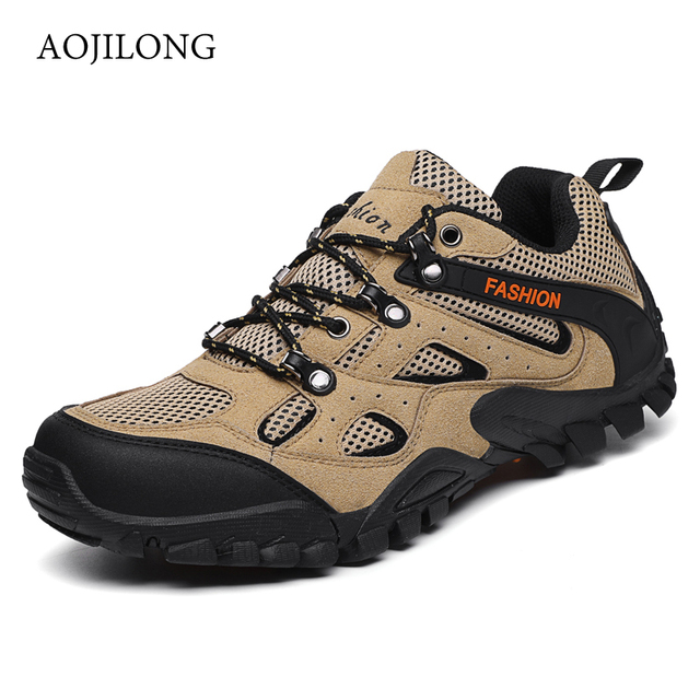 Newest Men Hiking Shoes Mountain Climbing Shoes Waterproof Outdoor Hiking Breathable Walking Shoes Trekking Sports Sneakers