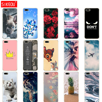 case For Huawei Y5 2018 PRIME cover 5.45 inch Soft Tpu Phone housing on for lite Cover copa cute cog cat