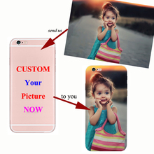 Custom DIY Photo on Super Thin Soft TPU Silicone Cover Customized Image Print Phone Case for IPhone 5S SE 6 6S 7 8 Plus X XS MAX