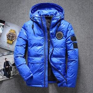 Image 3 - ฤดูหนาวใหม่อบอุ่นเป็ดสีขาว Downs แจ็คเก็ตผู้ชาย Outwear หิมะหนา Parkas Hooded Coat ชาย Windproof Downs เสื้อผู้ชาย