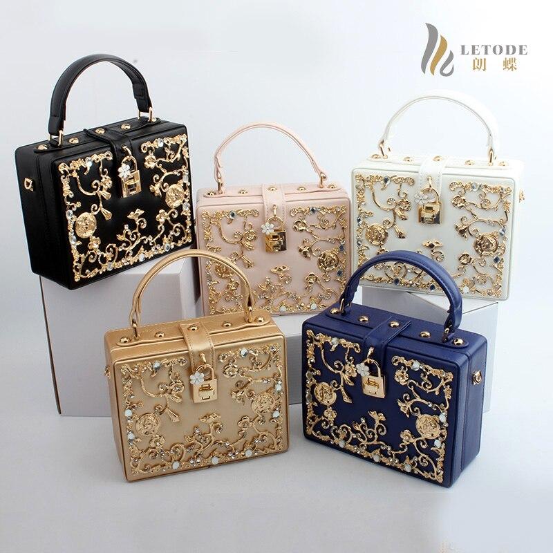 168728b2d6 Luxe Fashion Women Shoulder Handbags Messenger Crossbody Bags Evening Totes  Bag Box Clutch Purse PU Metallic