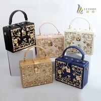 Luxe Fashion Women Shoulder Handbags Messenger Crossbody Bags Evening Totes Bag Box Clutch Purse PU Metallic Rose Flower Beaded