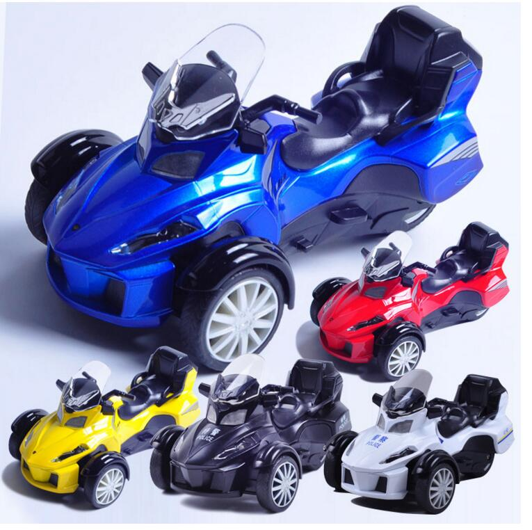 Hot Child  Bombardier Pour Multi Classic Motorcycle Toy Model Alloying Sound And Light Alloy  1:12 Gift Free Door