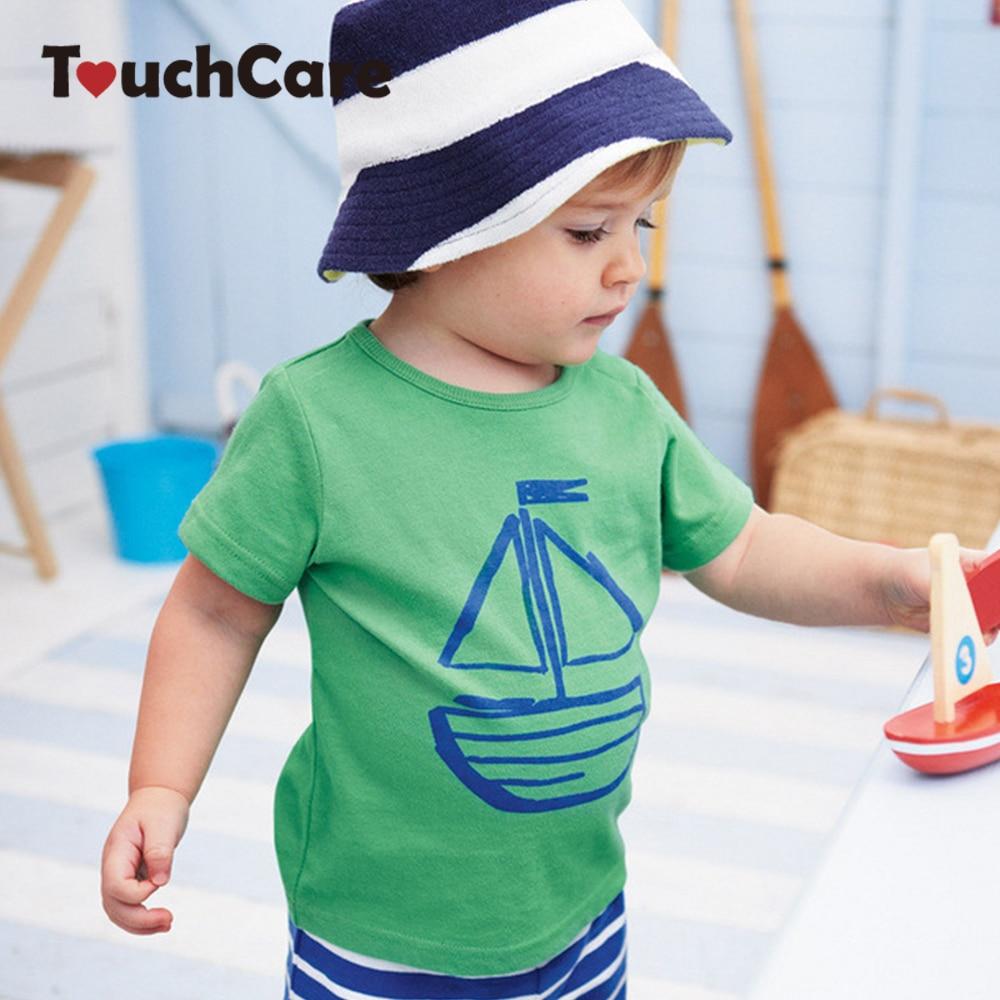 Clearance 2 Pcs Baby Clothing Set Sailboat T shirt