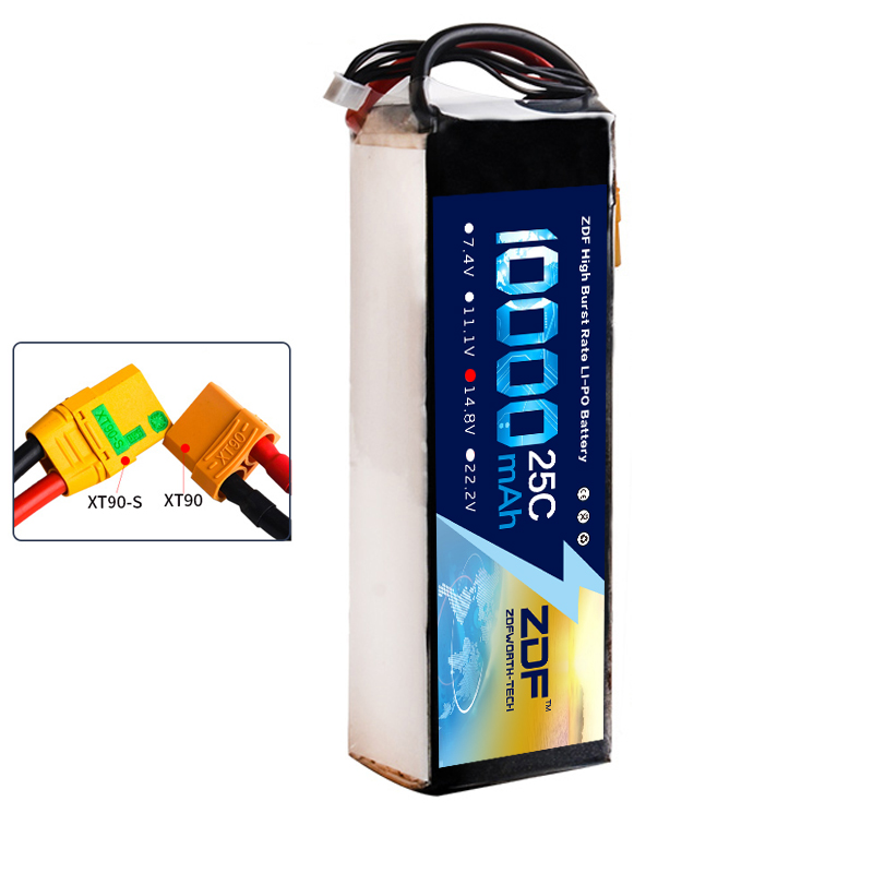 2018 ZDF Power RC LiPo Battery 14.8V 10000mAh 25C Max 50C 4S For UAV Multi-rotor Quadcopter Airplane Boat Car FPV Truck Drone 2018 dxf power li polymer lipo battery 2s 7 4v 22000mah 25c max 50c for helicopter rc model quadcopter airplane drone car fpv