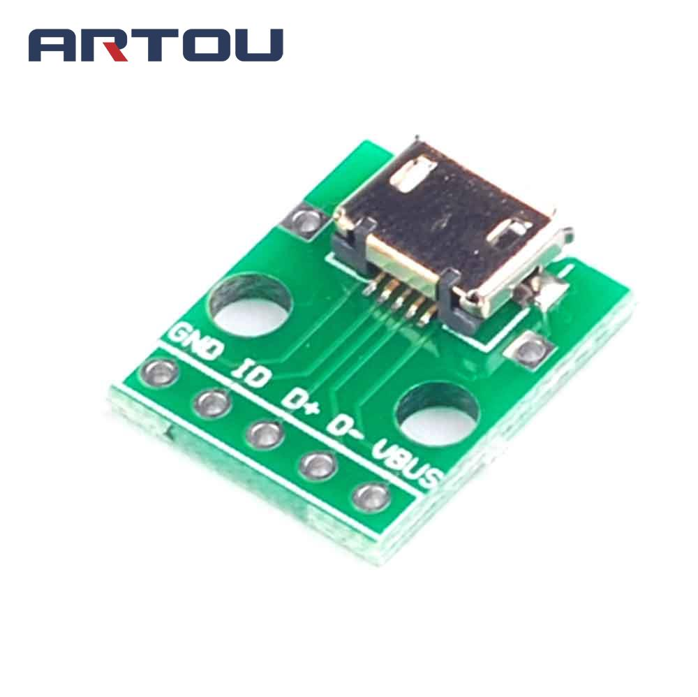 1pcs I2c Rtc Ds1307 At24c32 Real Time Clock Module In Integrated Digital Using 8051 Microcontroller With Micro Usb To Dip 254mm Adapter Connector Board Panel Female 5 Pin