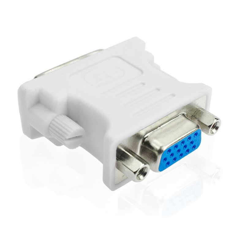 JCKEL 1080P DVI i 24 + 5 إلى كابل تجهيز مرئي ذكر أنثى محول محول فيديو التبديل موصل ل HDTV PC العارض شاشة العرض