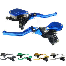 7/8'' 2pcs CNC Motor Accessories Motorbike Brakes Master Cylinder Brake Clutch Lever Motorcycle Scooter Bike Reservoir Set стоимость