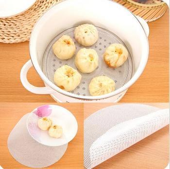 24cm Round Silicone Eco-friendly Steamer Pad Steamed Stuffed Bun Bread Pad Household Steamer Steamed Dumplings Mat jk17