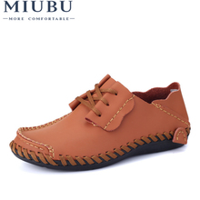 MIUBU Men Leather Shoes Casual 2019 Autumn Fashion For Designer Breathable Big Size Mens Comfort