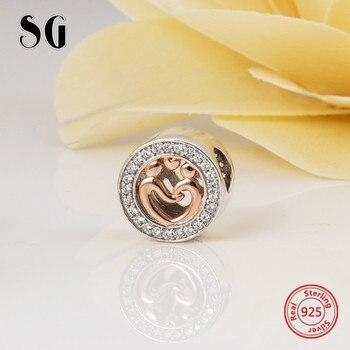 I am the supermom beads 925 encantos personalizados de plata con ajuste CZ pulseras pandora auténticas Fabricación de joyería de moda para regalos