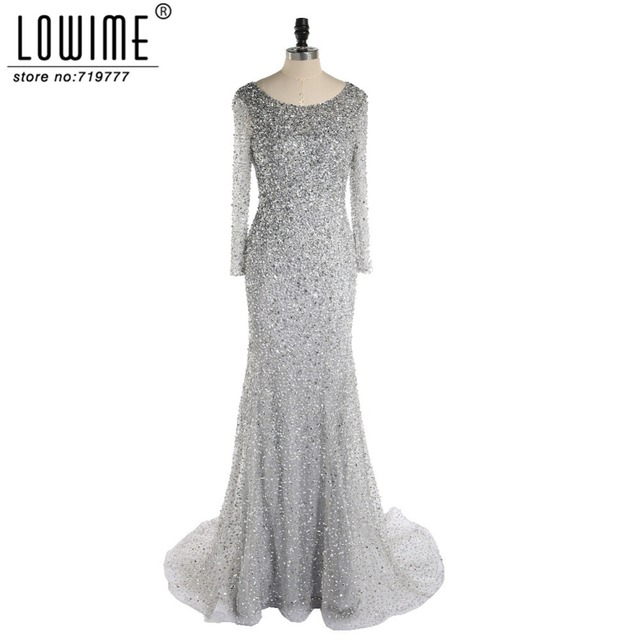 Silver Great Gatsby Dresses Luxury 2017 Rhinestone Mermaid Evening ...