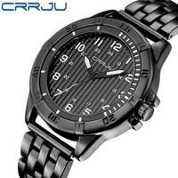 Zimowa wyprzedaż wyprzedaż zegarki Business Casual men zegarki pełna stal mężczyźni sport zegarek wodoodporny Relogio Masculino