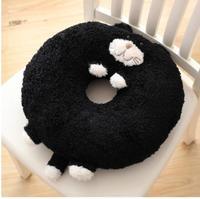 cartoon black cat seat cushion office plush seat mat office chair seat pad lumbar pillow backrest