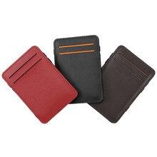 Kanbuder Bag Men Mini Neutral Magic Bifold Leather Wallet Ca