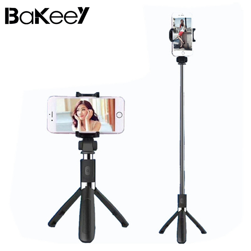 Bakeey L01 360 Degree Rotatable Extendable Tripod Selfie Stick with Bluetooth Remote Control For Android and iOS