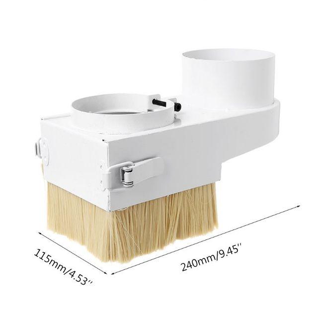Spedizione gratuita 75/80/85/90/100 millimetri Mandrino Copertura del Pattino Polvere Brush Cleaner Per CNC router Fresatura Macchina Strumenti di Lavorazione Del Legno
