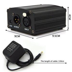 Image 5 - GEVO 48 В фантомный блок питания с адаптером ЕС 3 м аудио XLR кабель для конденсаторного микрофона студийное музыкальное голосовое оборудование для записи