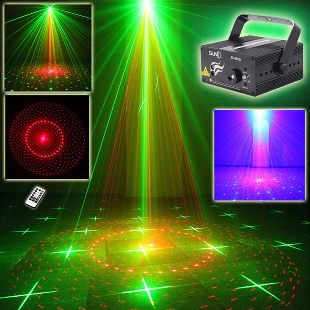 2016 New Blue Led Stage Lighting Dj Green Red Party 16