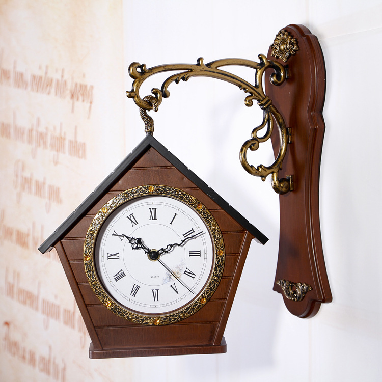 Digital Double Sided Vintage Wall Clock Digital-watch Pow Patrol Wall Watch Mechanism Secret Stash Relogio Parede Clocks 50ZB268