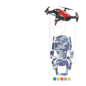 Image 5 - MASiKEN 12Colors Waterproof Stickers Decal Skin Protector for DJI Mavic Air Drone Decals Sticker Quadcopter Phantom Accessories