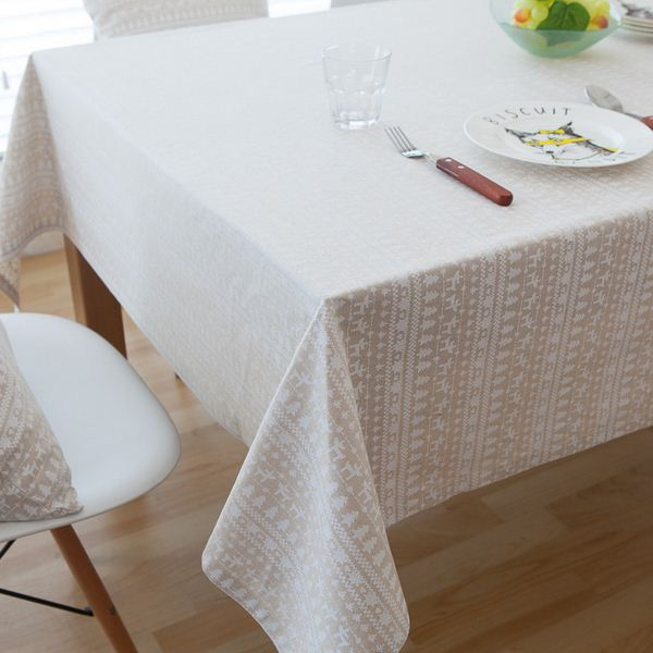 High Quality Car Printed Cotton Linen Blackout Curtain: High Quality Linen Cotton Table Cloth Tree Deer Printed