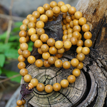 6 mm 8mm * 108 * Natural Golden Yellow Sandalwood / Gold Wood / Loose Beads Mala Japa Bracelet Jewellry Findings DIY Accessories