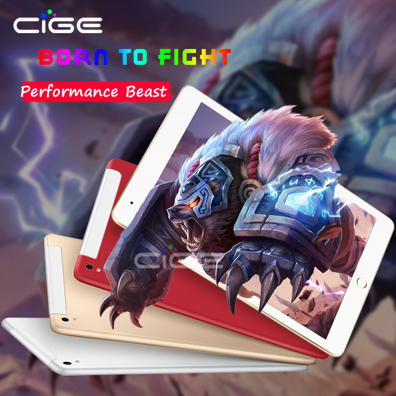 CIGE 10.1 inch Tablet PC Android Octa Core 4GB RAM 64GB ROM GPS dual cameras dual sim cards IPS 1280*800 3G phone call tablets [hk stock] blackview p6000 6gb 64gb dual back cameras face