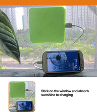 CE ROHS FCC Certification hot 2017 new technology secure solar power bank/window solar charger/solar mobile phone charger